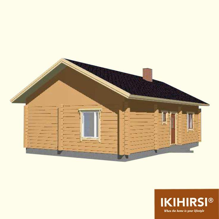 3D4. #деревянныйдом #Ikihirsi. Больше проектов одноэтажных деревянных домов на http://www.ikihirsirussia.ru/iki-houses/iki-proekty-1-etazh.html