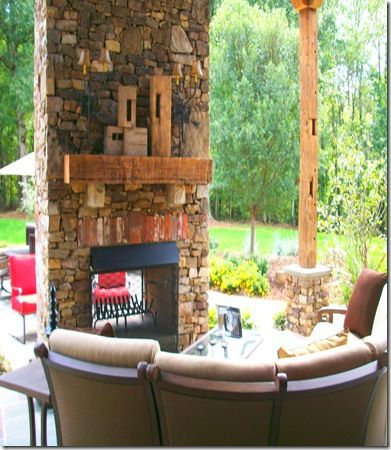 two sided outdoor fireplace the great outdoors