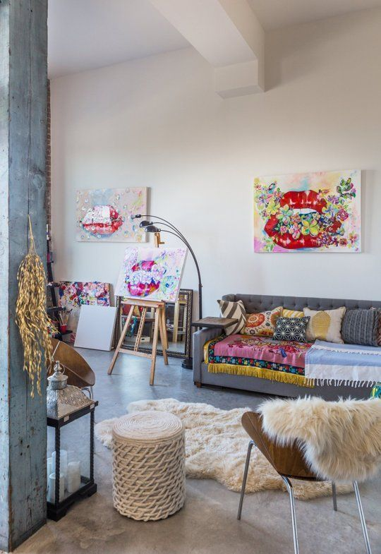 Olesya's Colorful New Orleans Studio in a Converted Rice Mill — House Tour