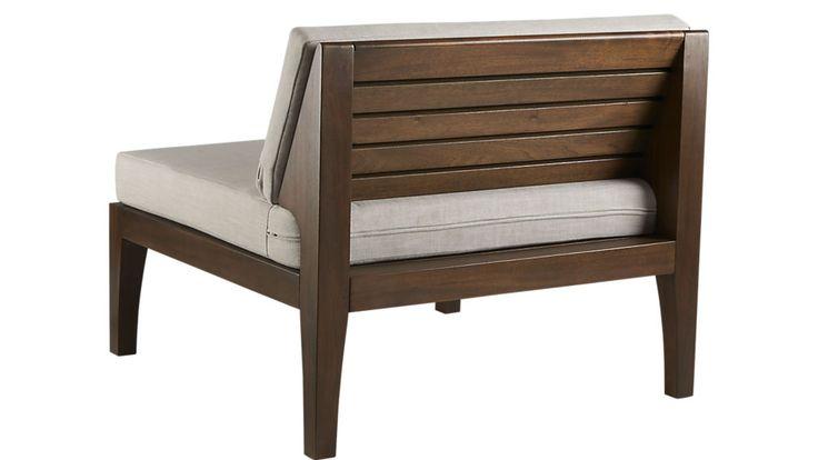 elba armless chair