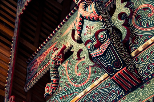 Gorga: Traditional #Batak house #ornament. #Indonesia
