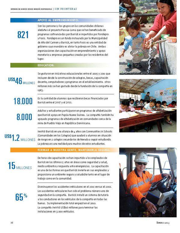 Inversión en educación y apoyo al emprendimiento - Infografía completa en el sitio de Barrick Sudamérica http://barricksudamerica.com