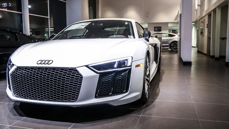 '17 Ibis White R8 #Audi #cars #car #quattro
