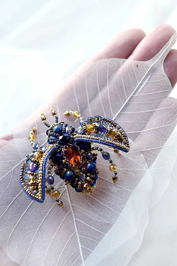 Colorful Beetle brooch - excellent as anniversary gift, wedding gift, graduation gift, excellent holiday gift. The brooch will perfectly