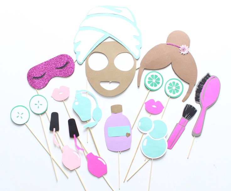 17pc * Spa Day Photo Booth Props/Spa Day/Spa Props/Girls Spa Day…