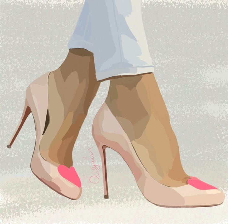 #draw #drawing #shoes #highheels #powderping #stiletto #liner #tan #pantyhose #samsungsnote