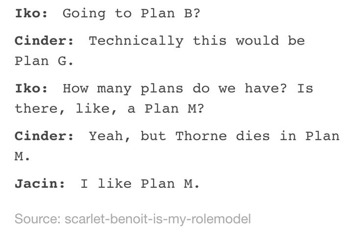 I'd cancel plan M.. I think that Jacin would secretly like Thorne tho and think he's a great guy