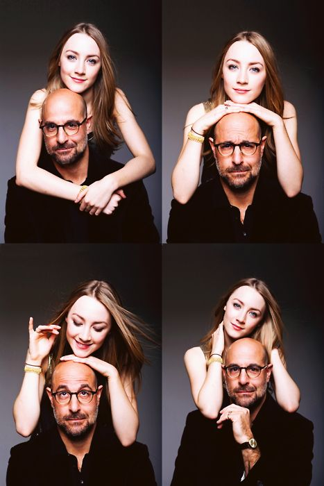 Saoirse Ronan and Stanley Tucci