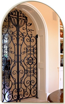 Iron Gates Indoors...beautiful Statement!