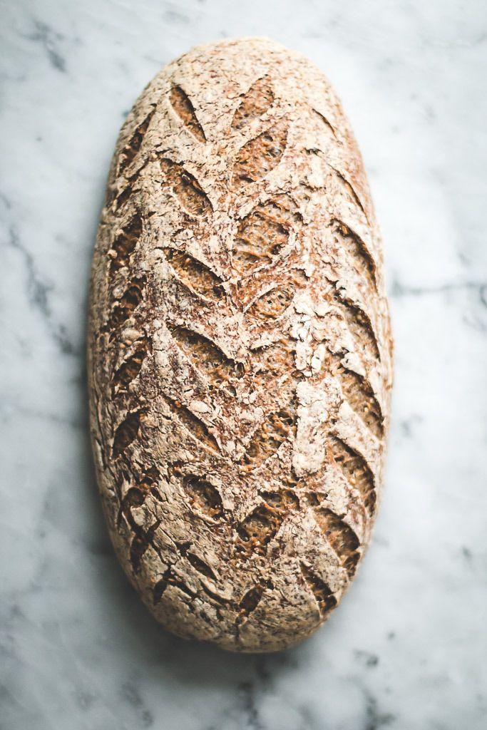 seeded gluten free sourdough bread