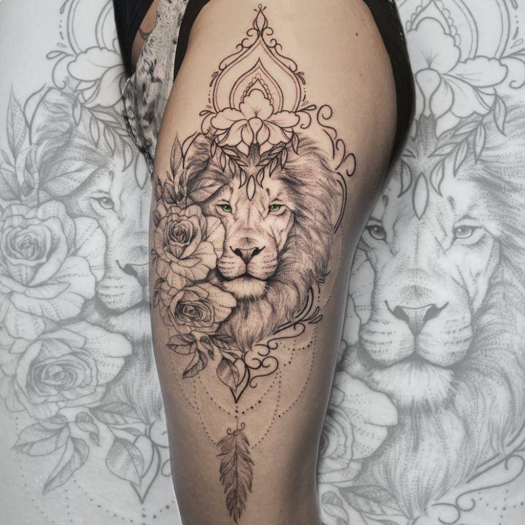 Tatuagens Delicadas: Veja essas 42 inspirações - Blog Tattoo2me | Tatuagens de leão, Tatuagem leão de juda, Tatuagem