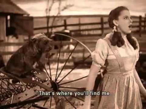Judy Garland   Over The Rainbow Subtitiles