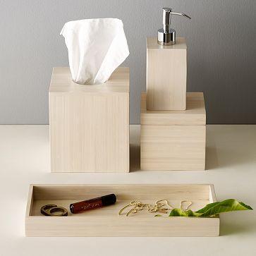 Bamboo Bath Accessories -- tissue holder.