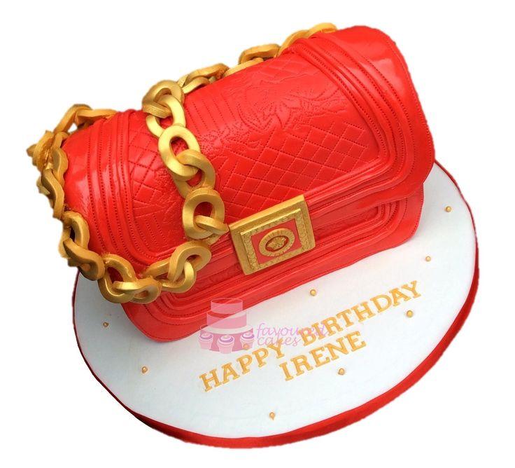 Versace bag cake