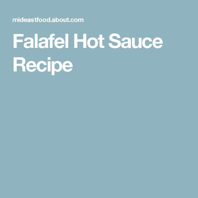 Falafel Hot Sauce Recipe