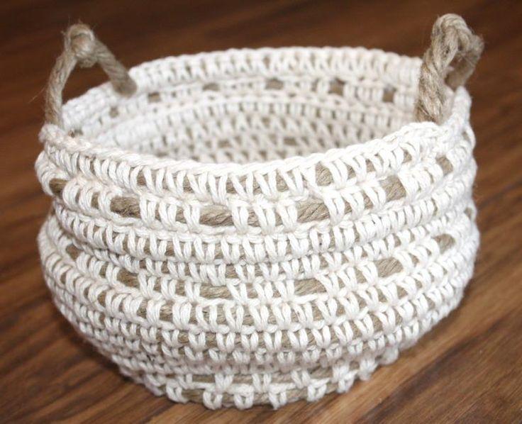 cesta de ganchillo