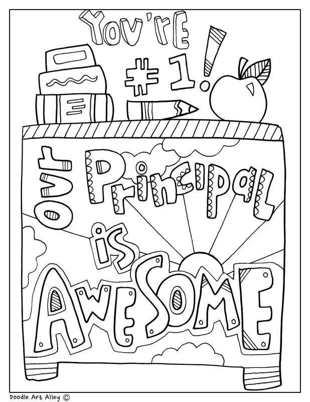 Our Principal Is Awesome Coloring Page Principal Appreciation