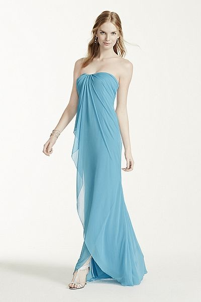 MORE COLORS Long Strapless Mesh Dress Style W10484 Online $159.00 $99.99  davidsbridal.com
