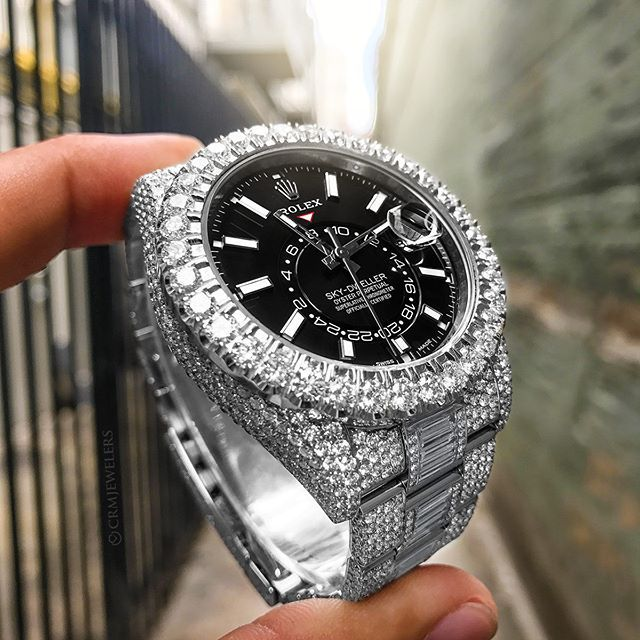 Rolex Sky Dweller Bust Down With The Black Dial 57k Custom Diamond Work Real Vvs Rolexaholics Malefashi Rolex Rolex Watches For Men Expensive Watches