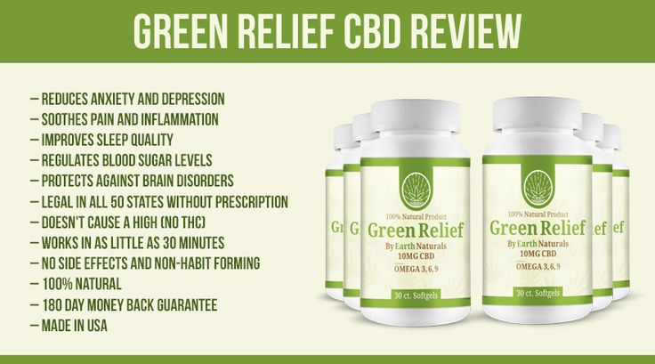 Green Relief CBD Review How to Legally Reduce Pain Anxiety and Depression