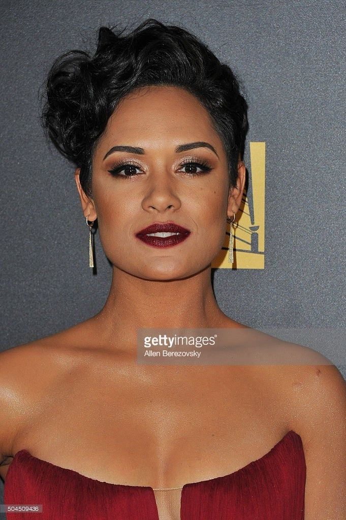 Grace Gealey's makeup for the 2016 Golden Globe Awards.