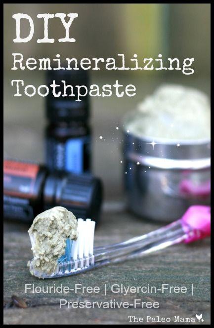 DIY Remineralizing Toothpaste | www.thepaleomama.com