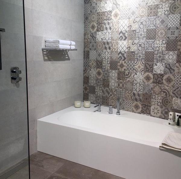 26 besten zementfliesen bilder auf pinterest badezimmer b der ideen und fliesen - Zementfliesen dusche ...