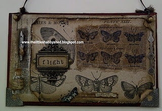 Tim Holtz love and stamping on craft glassine