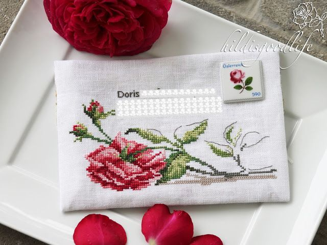 Envelope for an exchange in our online stitching forum