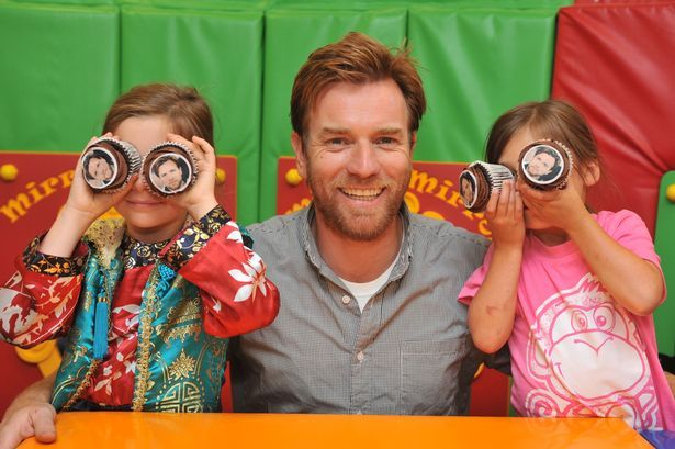 Scottish actor Ewan McGregor OBE took time out from a family trip to visit Rachel House Children's Hospice in Kinross run by CHAS.