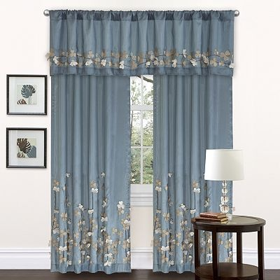 Lush decor flower drop window treatments living room for Window design 4 6