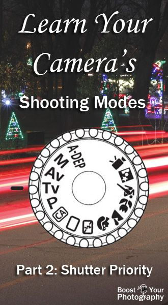 Shooting Modes: Part 2 - shutter priority   Boost Your Photography