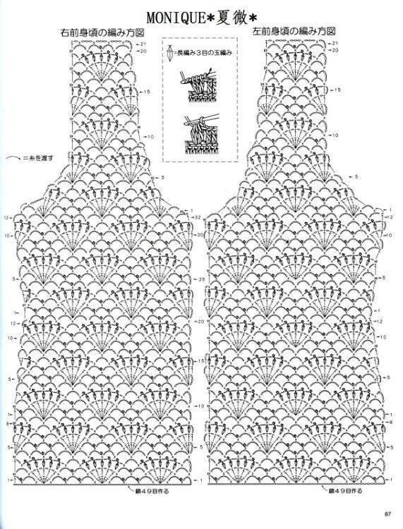 Crochet top diagram