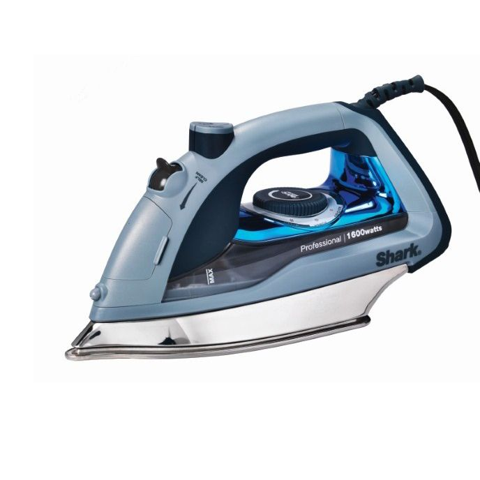 Shark GI405 PowerPress Self-Cleaning Professional Steam Iron, Silver stainless steel