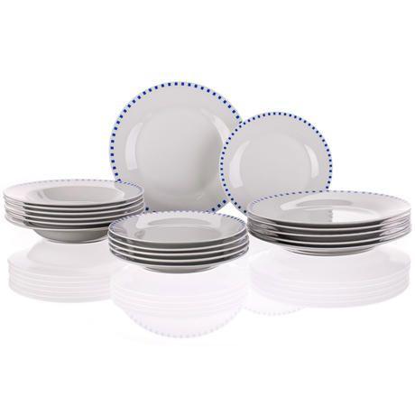 Porcelánová talířová sada Cubito Blue 18 dílů, BANQUET - decoDoma
