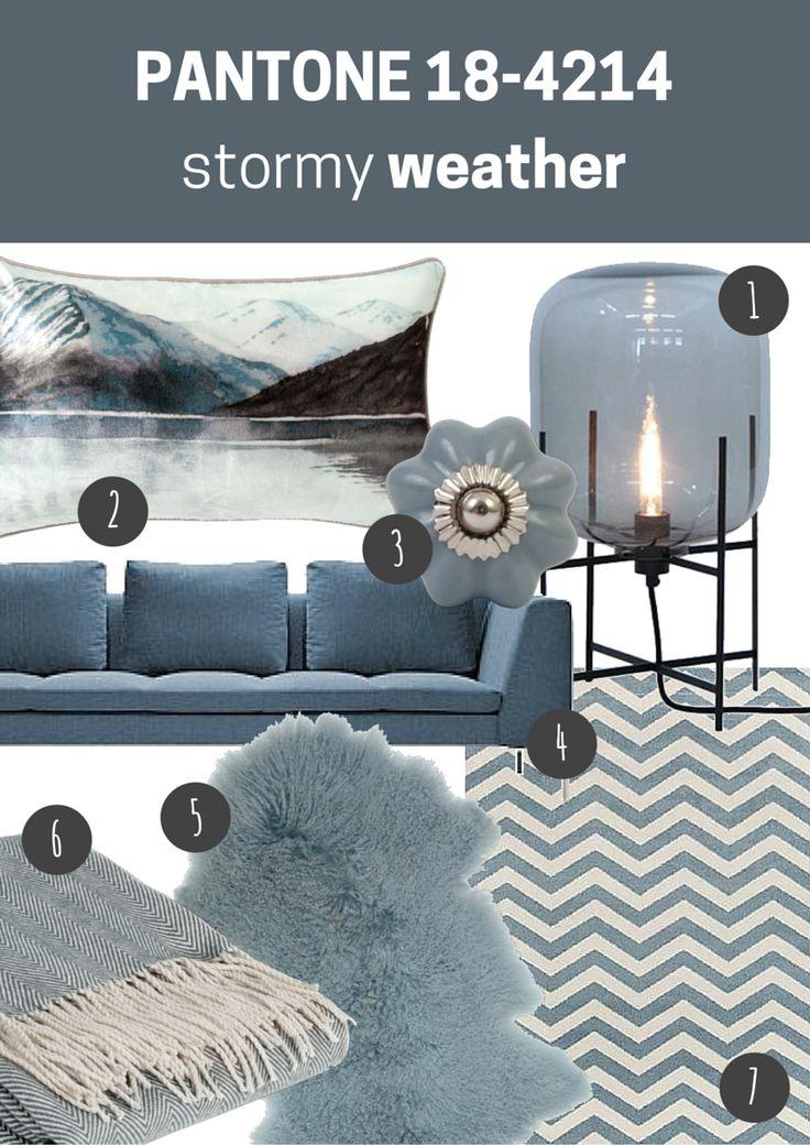 pantone 18-4214 stormy weather   pokój dzienny // living room