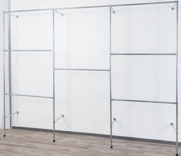 250cm hoch Kleiderständer Wandregal Kleiderkammer Keiderstange Garderobe W.04   Möbel & Wohnen, Möbel, Kleiderschränke   eBay!