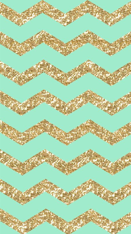 Freebie: Gold Glitter & Mint Chevron iPhone 6 Wallpaper!