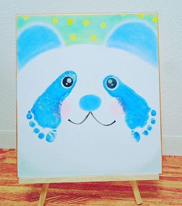 Panda Bear Handabdruck Kunst! Ideal für Neugeborene, Kleinkinder / Vorschulkinder …   – New Baby