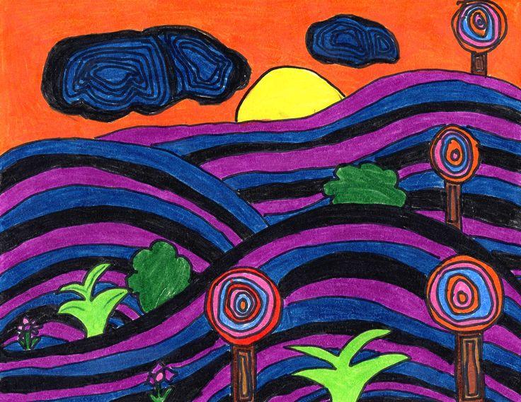 Hundertwasser Landscape Landscapes Pinterest