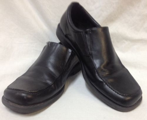 boys size 4 5 black loafers smart fit slip on dress shoes