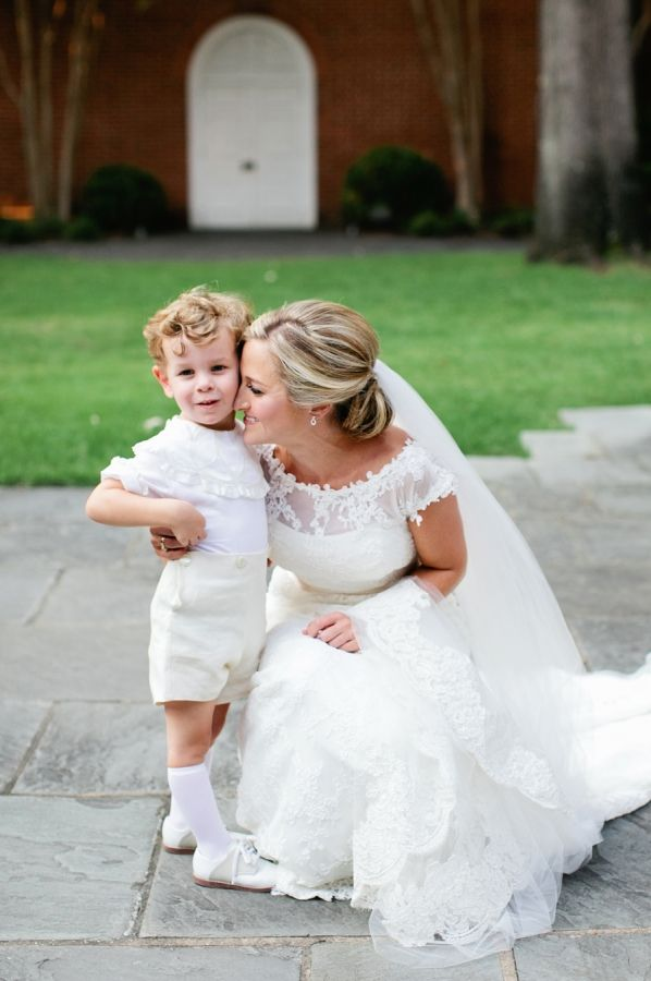 Bride with Ring Bearer | photography by http://www.kristynhoganblog.com
