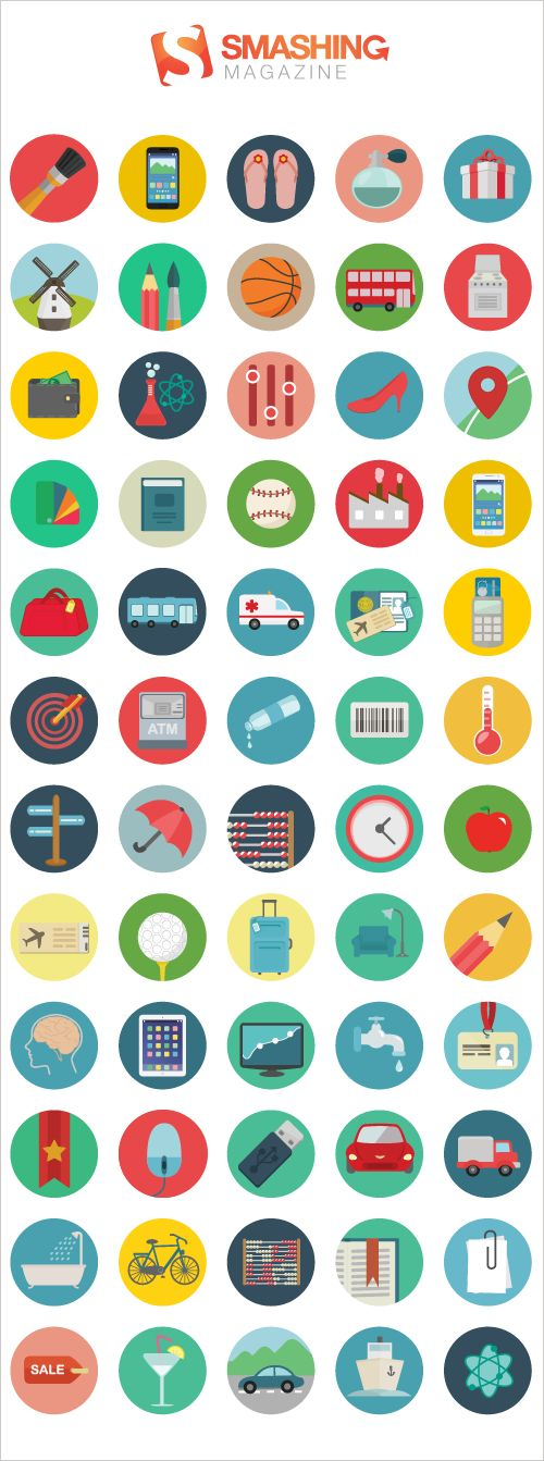 Freebie: Roundicons Icon Set (60 Icons, PNG, SVG, EPS, AI). Designed by the creative trio at Roundicons and released exclusively for Smashing Magazine and its readers.