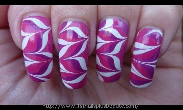 Water Marble Nail Art Picture