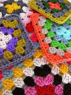 Sarah London tells how to get perfectly square granny squares!