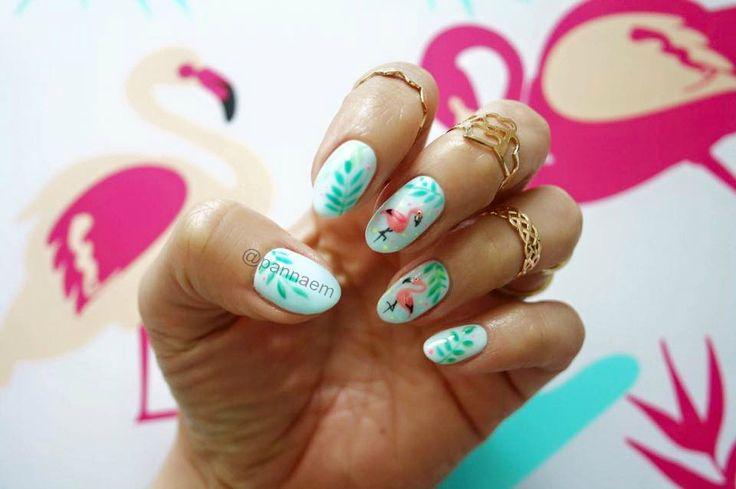 #nails #nail #summer #pink #flaming#flamingo
