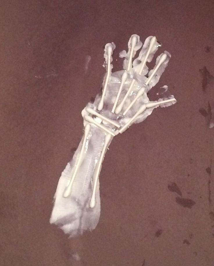 Skeleton handprint art