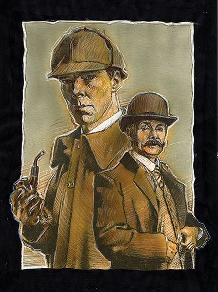 Sherlock and Watson. E. Pitarch © 2016. All rights reserved.