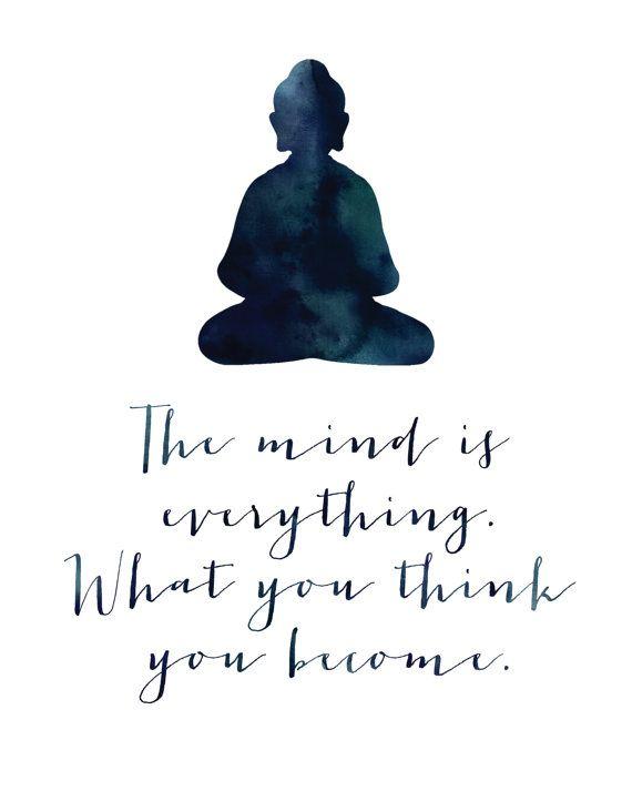 The Mind Is Everything Print / Buddha Print / by MadKittyMedia