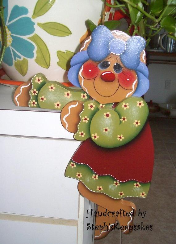 Hand Painted Gingerbread Door Huggers Christmas